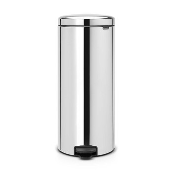 NewIcon Pedal Bin - Brilliant Steel