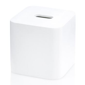 Stone KBQ Tissue Box - Square - White