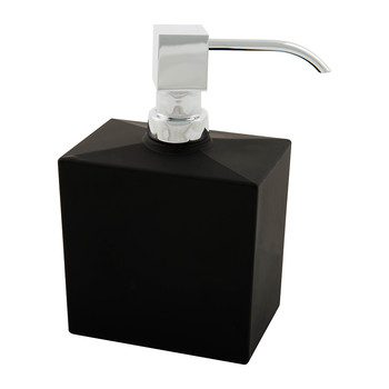 DW956 Soap Dispenser - Matt Black Glass/Chrome