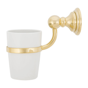 CLWMG Classic Wall-Mounted Tumbler - Gold/Porcelain White