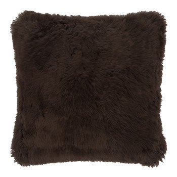 New Zealand Sheepskin Pillow - 50x50cm - Chocolate