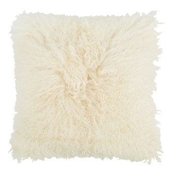 Tibetan Sheepskin Cushion - Light Honey
