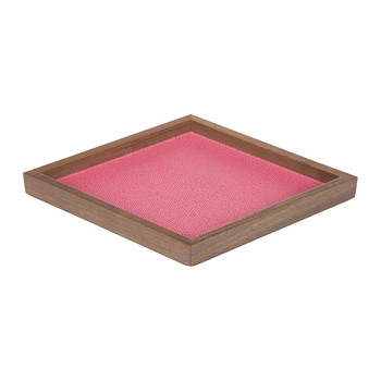 Iris Diamond Leather Valet Tray - Raspberry Golf