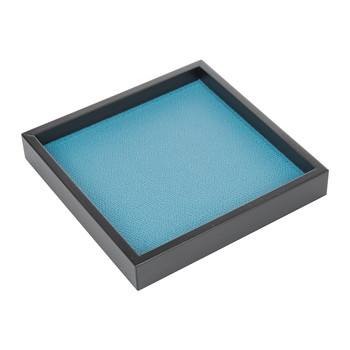 Liberty Square Leather Valet Tray - Turquoise Golf