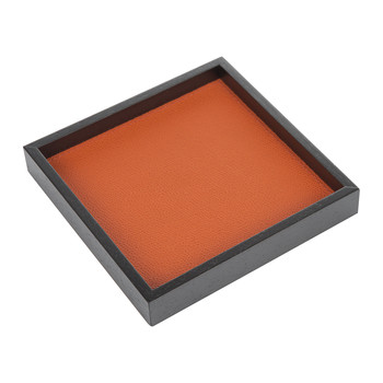 Liberty Square Leather Valet Tray - Mango Golf