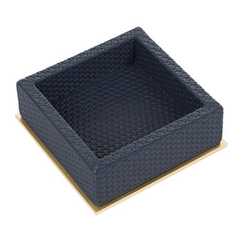 Ourea Square Leather Trinket Tray - Royal Blue Bellagio
