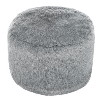 Faux Fur Pouf - Charcoal