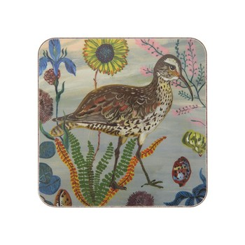 Nathalie Lété - Birds in the Dunes Coaster - Eskimo Curlew