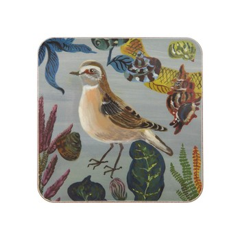 Nathalie Lété - Birds in the Dunes Coaster - Wheatears Hen