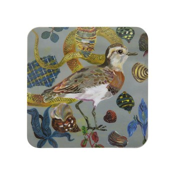Nathalie Lété - Birds in the Dunes Coaster - Caspian Plover