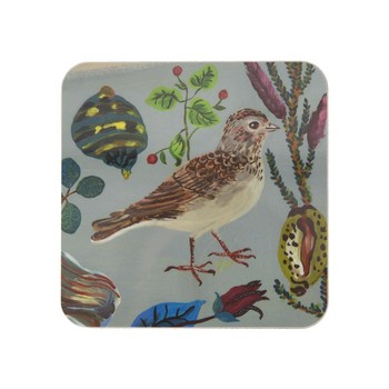 Nathalie Lété - Birds in the Dunes Coaster - Short Toed Lark