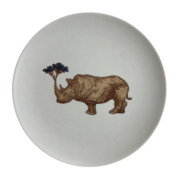 Puddin' Head - Animal Dining Plates - Rhino