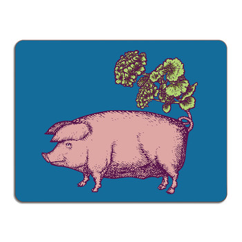 Puddin' Head - Animal Table Mat - Pig