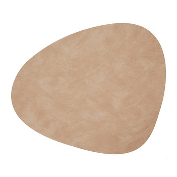Table Mat Curve - Peach - Large