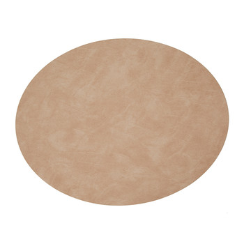 Table Mat Oval - Peach