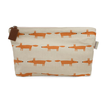 Mr Fox Cosmetic Bag - Sand