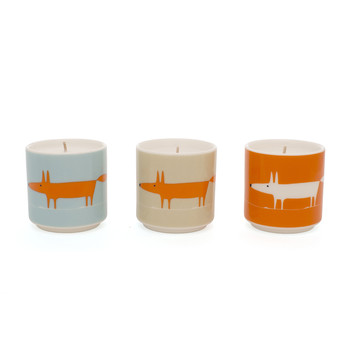 Mr Fox Candle - Set of 3