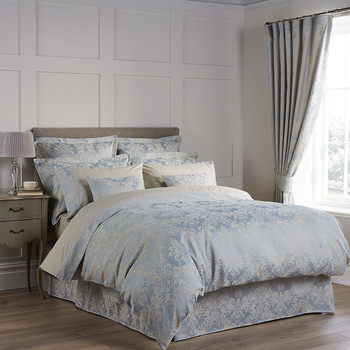 Serena Duvet Cover - Duck Egg