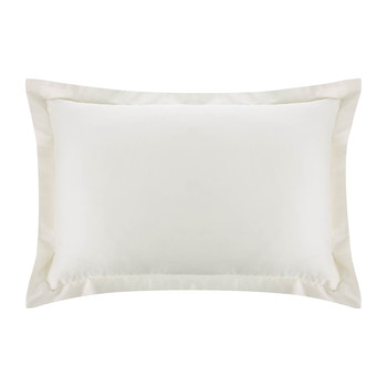 Cotton Satin Oxford Pillowcase - Ivory - Set of 2