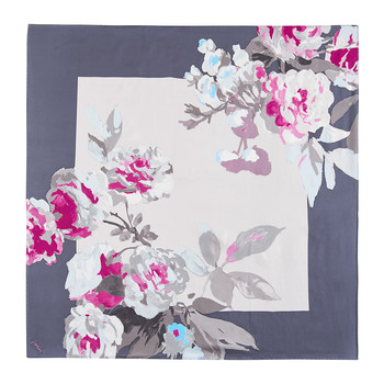 Bloomfield Silk Scarf - Grey Beau Bloom