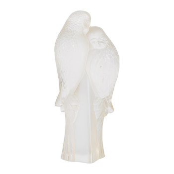 Two Parakeets Figure - Gold Luster