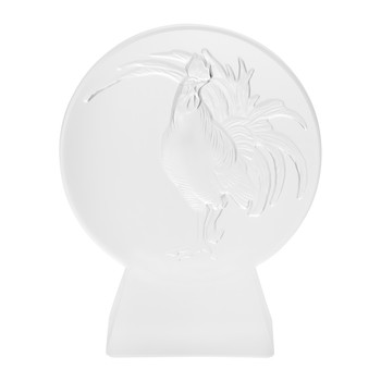 Rooster Paperweight - Clear