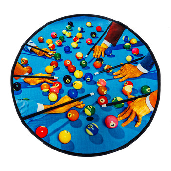 Toiletpaper Round Rug - Snooker