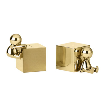 Omini Salt & Pepper Shaker Set - Brass