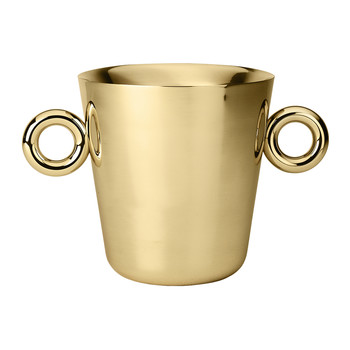 Double O Ice Bucket - Brass