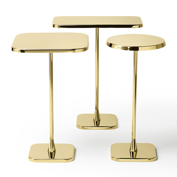 Opera Rectangular Side Table - Brass