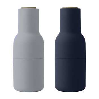 Bottle Salt & Pepper Grinder - Set of 2 - Classic Blue