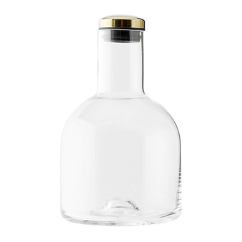 Bottle Carafe with Brass Lid - 1.4L