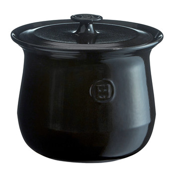 Flame Ceramic Stockpot - Black