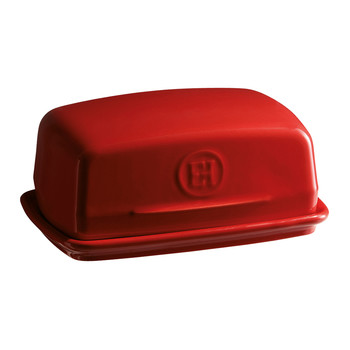 Kitchen Tools Ceramic Butter Dish - Red