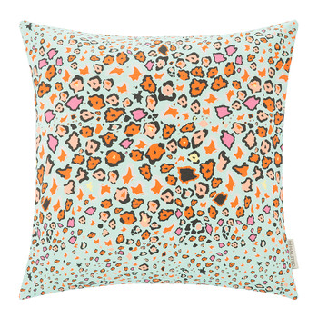 Leopard Lights Cushion - 50x50cm - Kingfisher