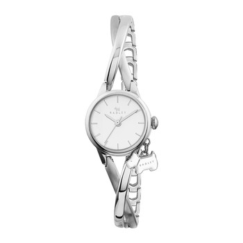 Bayer Thin Strap Charm Watch - Silver