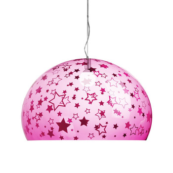Children's FL/Y Ceiling Light - Stars - Pink