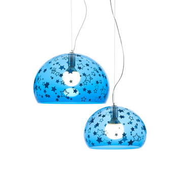 Children's FL/Y Ceiling Light - Stars - Blue