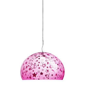 Children's Mini FL/Y Ceiling Light - Stars - Pink