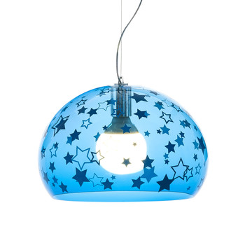 Children's Mini FL/Y Ceiling Light - Stars - Blue