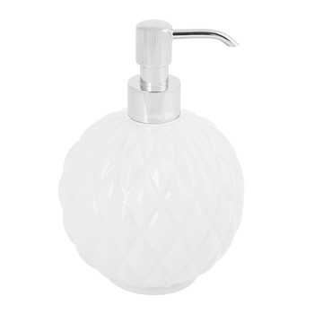 Black Tie Round Soap Dispenser - White