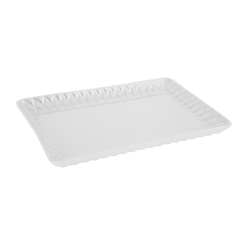 Black Tie Rectangular Tray - Pearl Grey