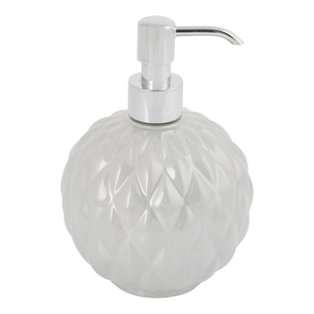 Black Tie Round Soap Dispenser - Pearl Grey
