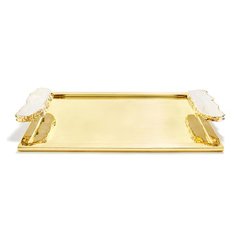 Heritage Tray - Crystal/Gold
