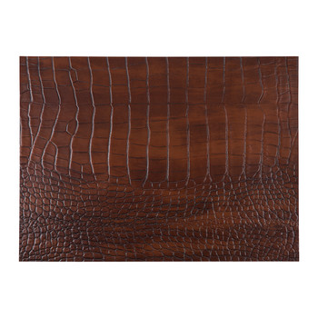 Camellia Recycled Leather Placemat - Cognac