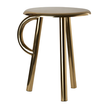 Cow Stool with Handle - Gold