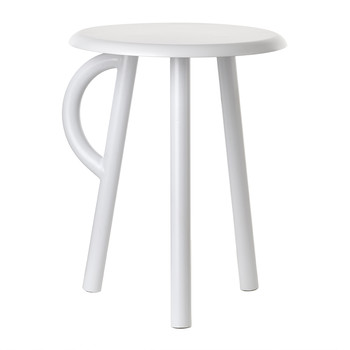 Cow Stool with Handle - White