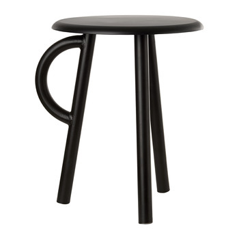 Cow Stool with Handle - Black