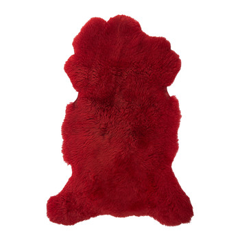 Sheepskin Rug - 100x70cm - Red