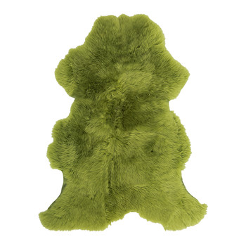 Sheepskin Rug - 100x70cm - Green